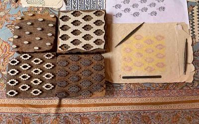 Block printing in Bagru, India