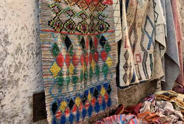 Rug shopping in Essaouira