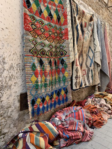 Rug shopping in Essaouira